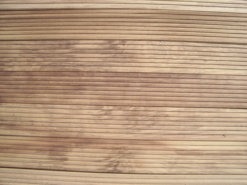 Iroko Decking 20 x 120mm Castle *special profile to customers detail*