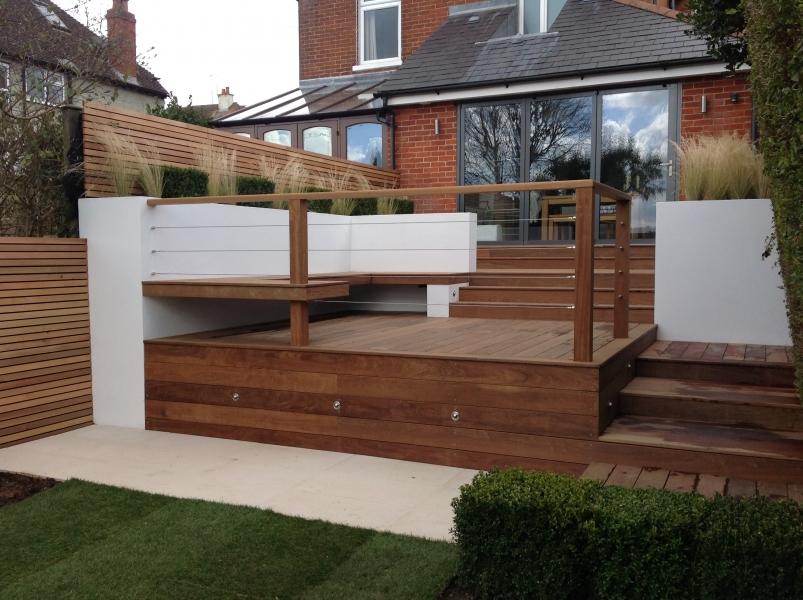 Ipe 21x145mm hidden fix decking and 20x45mm PAR Cedar Fence