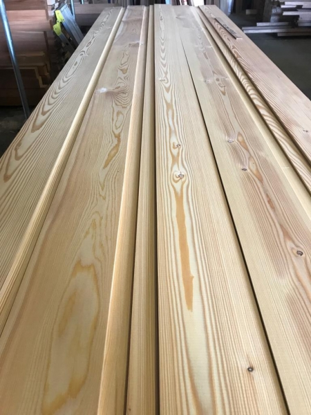 Siberian Larch U/S grade 19x144mm ST6.L channel groove
