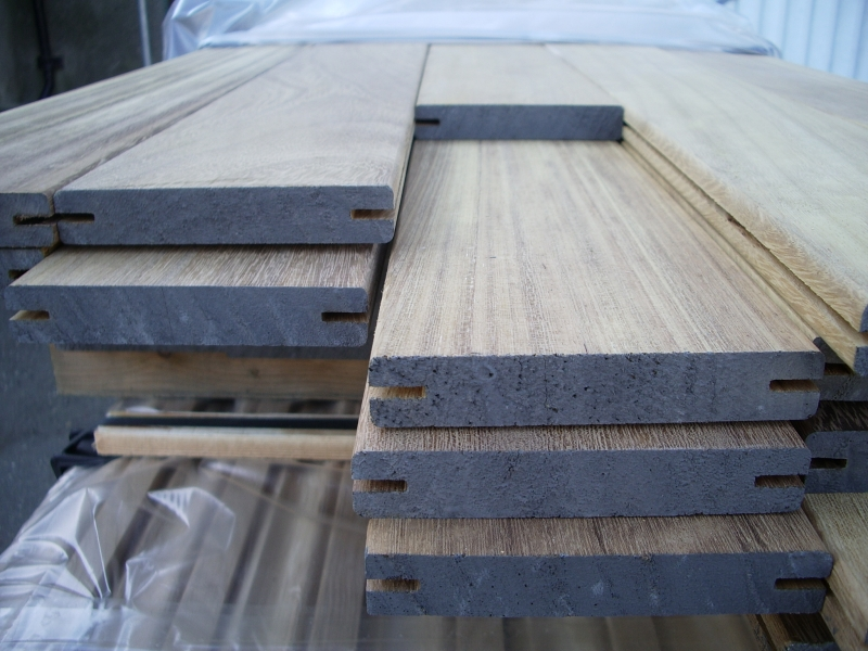 Iroko 20 x 140mm smooth 2 sides decking *grooved for hidden fix*