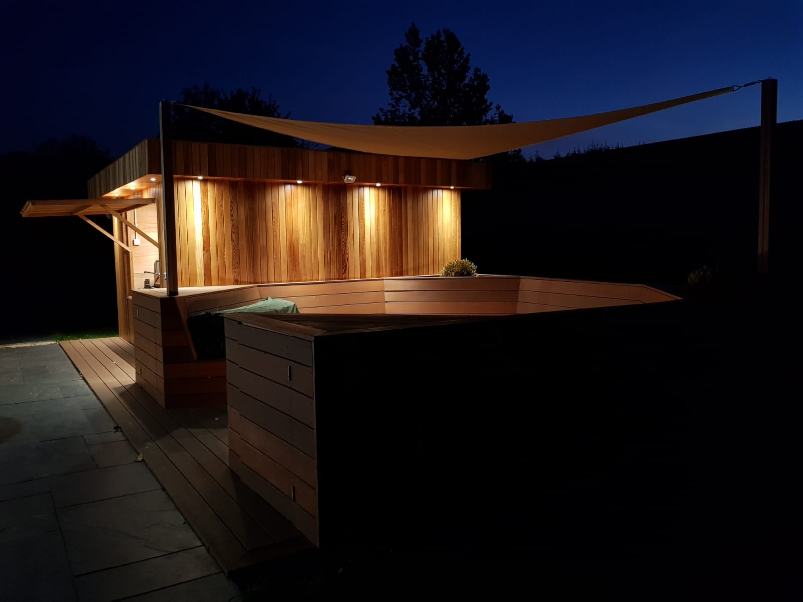 A combination of Yellow Balau and Western Red Cedar