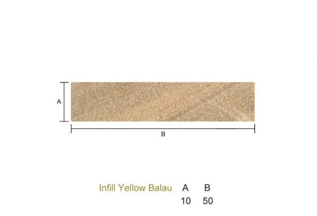 Yellow Balau 10 x 50mm P.A.R. Infill