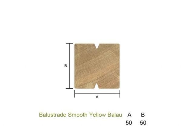 Yellow Balau 50 x 50mm Smooth Balustrade