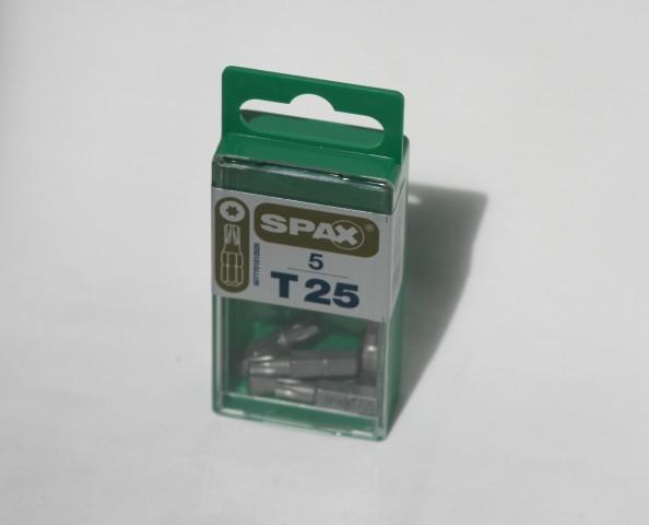 Spax T-star drive bits T25