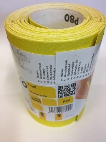 Mirka Hiomant P80 Sandpaper x 5 mtr roll