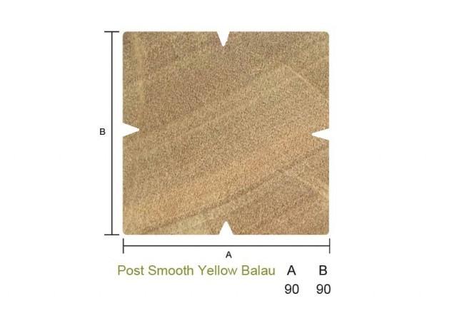 Yellow Balau Post Smooth