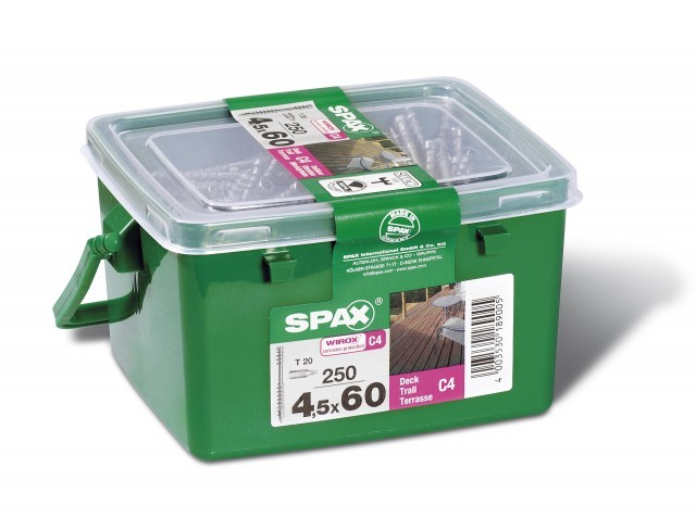 Spax WIROX 4.5 x 60mm x 250 tubs decking screw