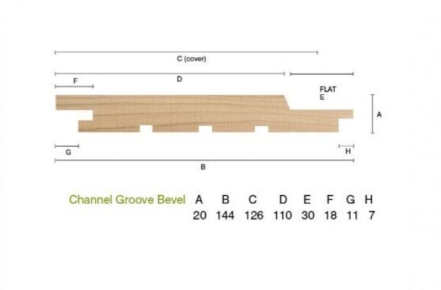 Siberian Larch 20 x 144mm Channel Groove Cladding ST10.L
