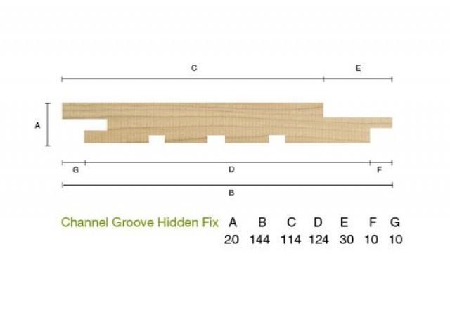 Siberian Larch 20 x 144mm Channel Groove Cladding ST6.L