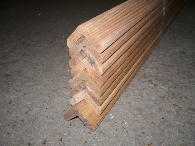 Western Red Cedar 45x45mm L Section Southgate Timber
