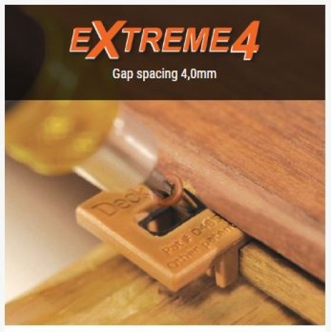 Deckwise Extreme4 hidden Decking Fixings - 4mm Gap