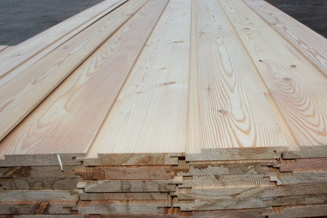Siberian Larch 20 x 144mm Channel Groove Cladding ST6.L