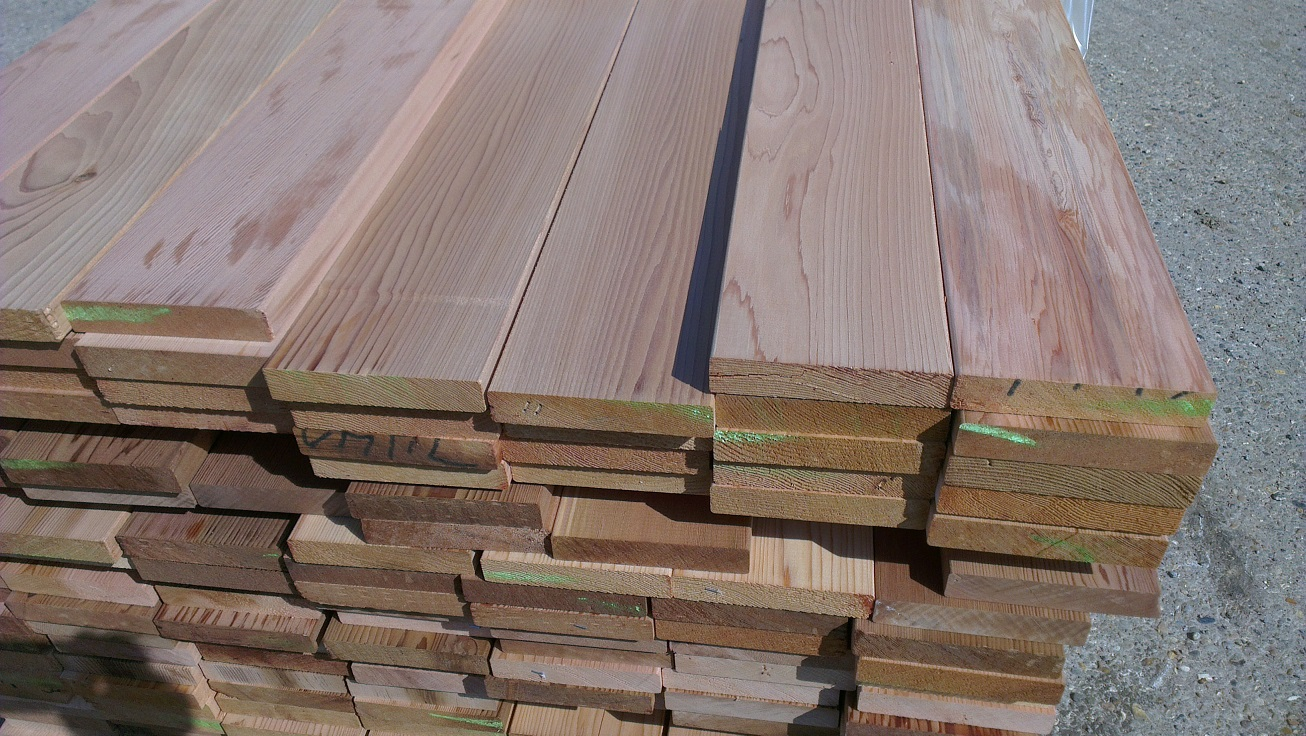 Western red cedar p a r 27 x 145mm smooth 2 sides decking for Smooth hardwood decking boards