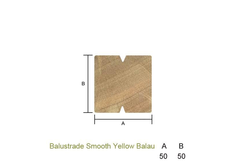 Yellow Balau Balustrades Smooth