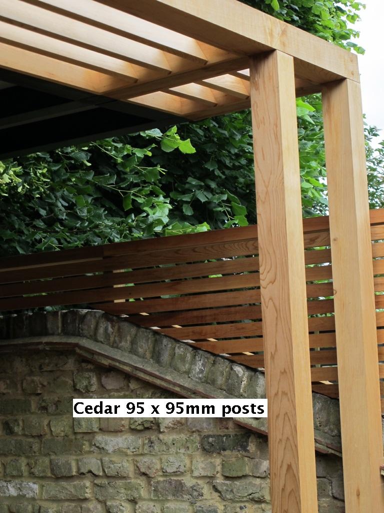 Western Red Cedar P.A.R. 95 x 95mm P.A.R. Fencing posts
