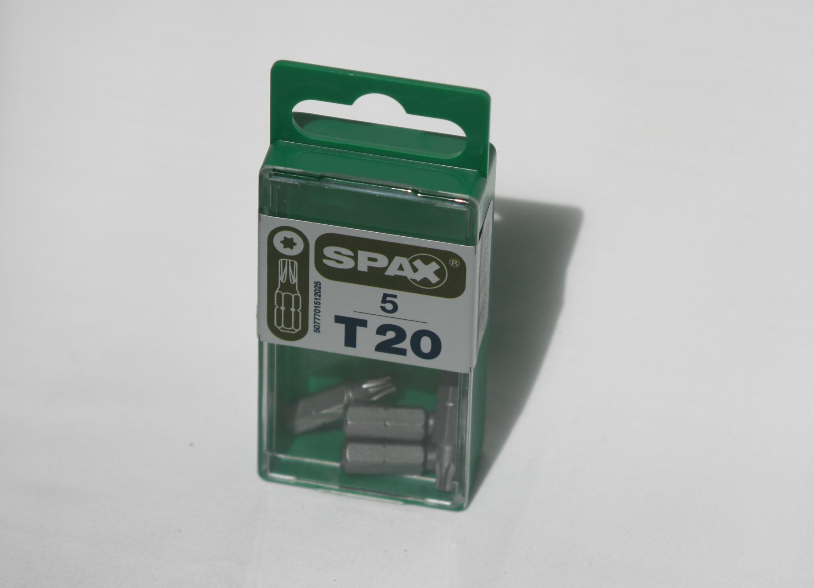 Spax T-star drive bits T20
