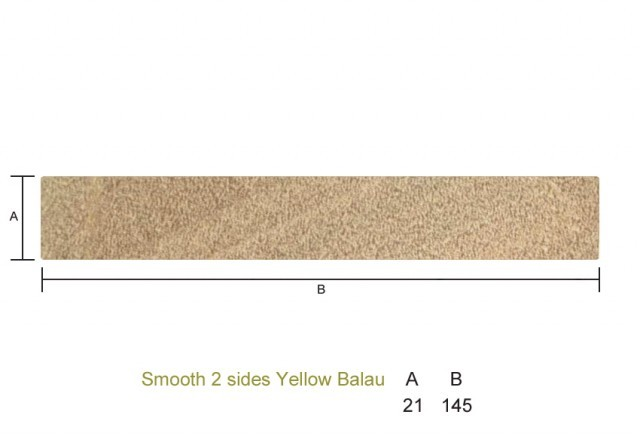 Yellow Balau 21 x 145mm Smooth 2 sides